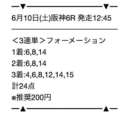 阪神6レース