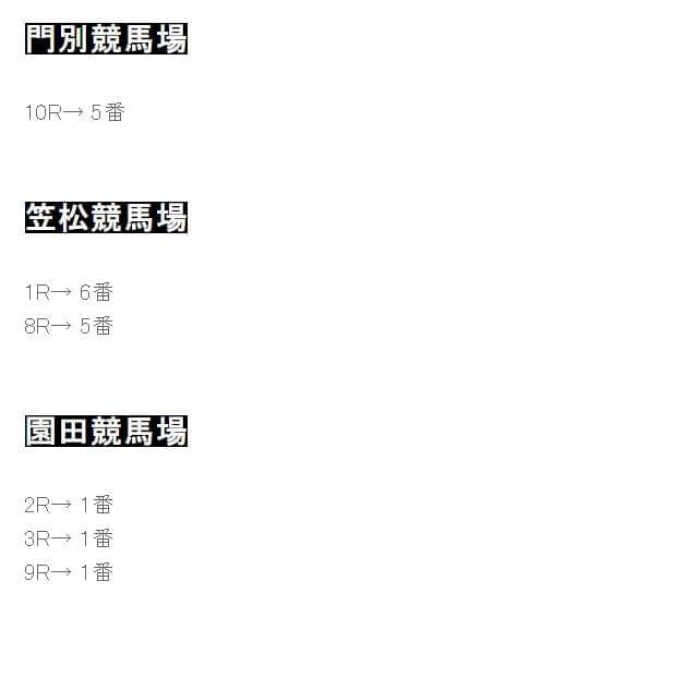 地方・中央【厳選軸馬】 公開ブログ