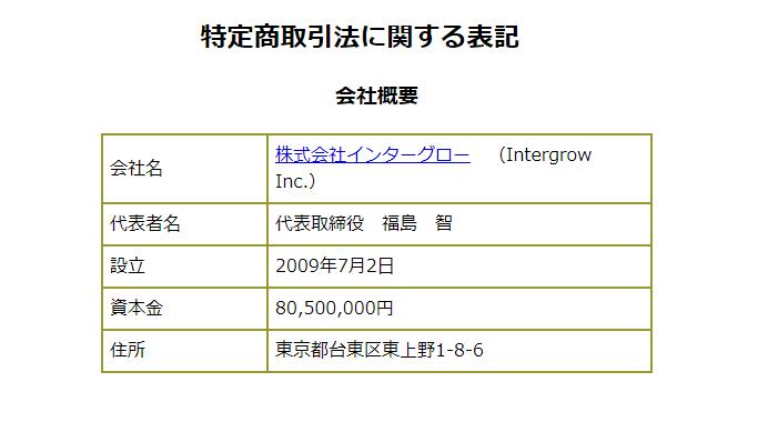 タイムフィルターOnLine 特定商取引法