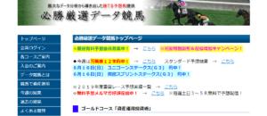 競馬予想サイト「必勝厳選データ競馬」は膨大なデータを利用した予想で的中率○○%!!