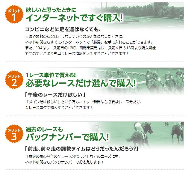 勝馬Onlineネット新聞の配信サービス