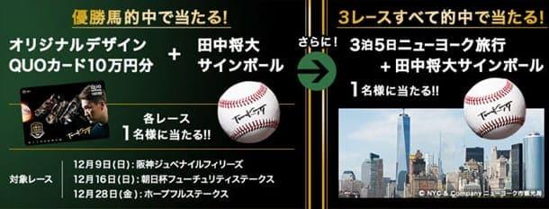 田中将大 競馬 予想 JRAでキャンペーン