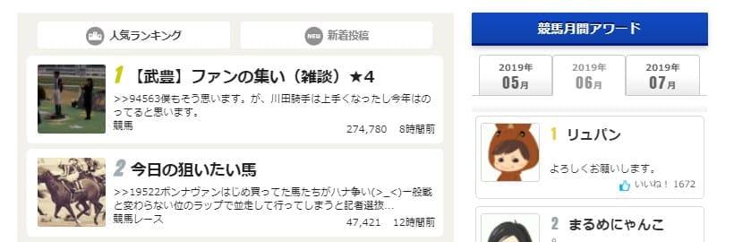 ネット競馬(netkeiba.com) SNS