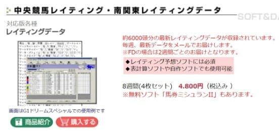 競馬予想サイトフォーラム レイティングデータを販売