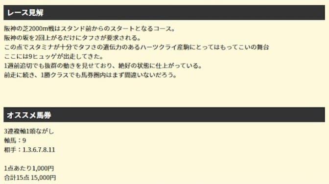 2レース目2019年12月7日阪神9R