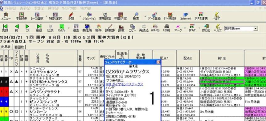 競馬予想 無料 ソフト 競馬シミュレーション◎○▲2 Data Lab.