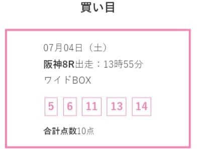 競馬予想サイト LAP競馬(ラップ競馬) 予想 2020年7月4日阪神08R