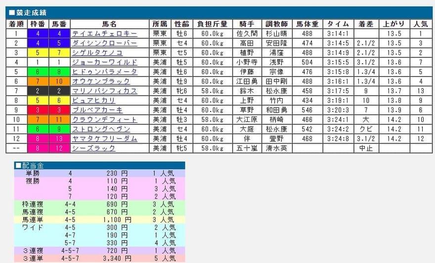 吉馬 中央競馬版 結果の見方