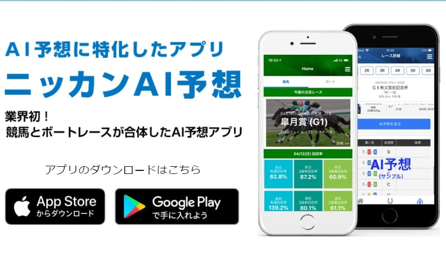 競馬予想サイト アプリ ニッカンAI予想